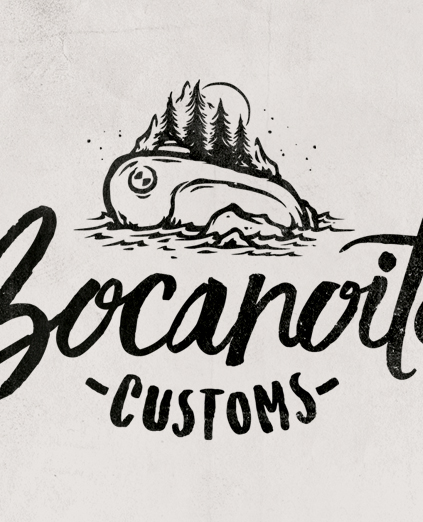 BOCANOITE CUSTOMS · LOGO